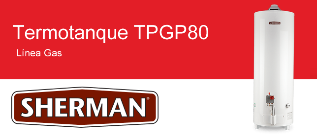 Termotanque Sherman TPGP80