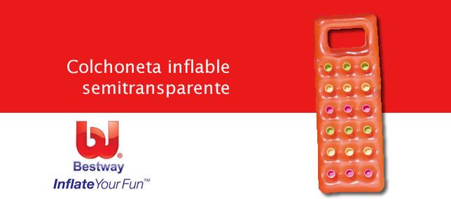 Colchoneta inflable semitransparente BestWay