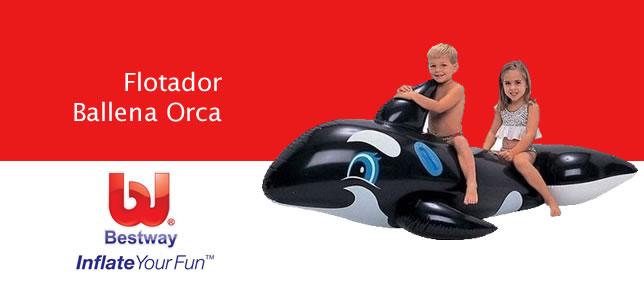 Flotador grande ballena Orca